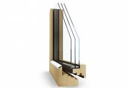 Dřevěné designové moderní okno Janošík Rand 2.0