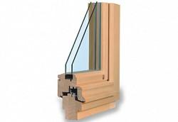 Dřevěné euro okno s historickým vzhledem TTK Rustikal