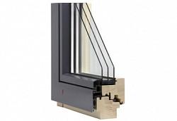 Dřevěné designové moderní okno TTK Alu Plus