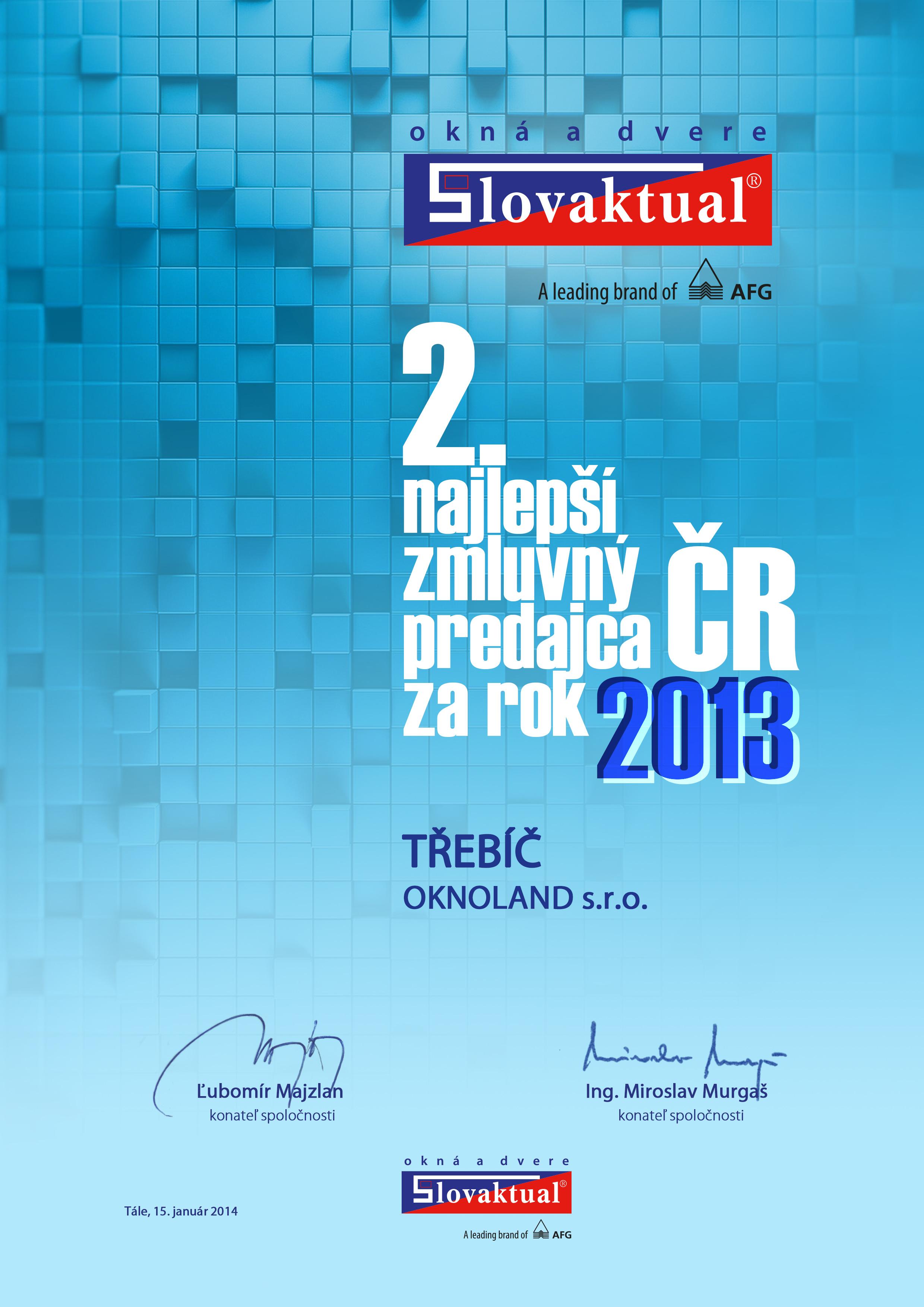 2. nejlepší prodejce v ČR