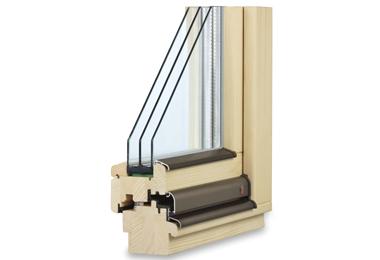 Dřevěné klasické euro okno TTK Pasiv Plus