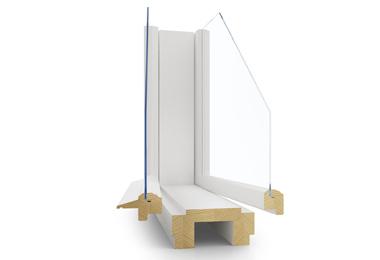 Dřevěné špaletové okno Janošík Duplik