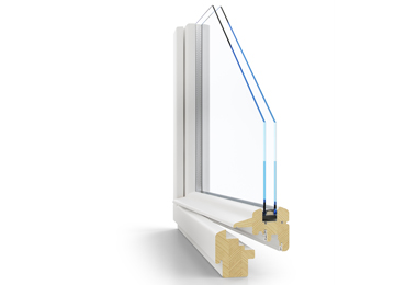 Dřevěné euro okno s historickým vzhledem Janošík Slim