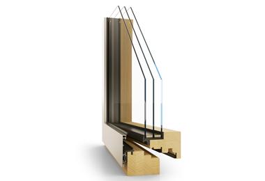 Dřevohliníkové designové moderní okno Janošík Evolut