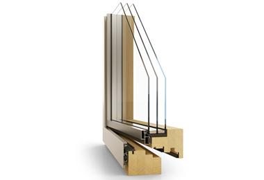 Dřevohliníkové designové moderní okno Janošík Kvadro