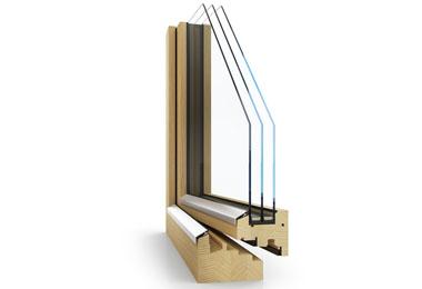 Dřevěné designové moderní okno Janošík Block