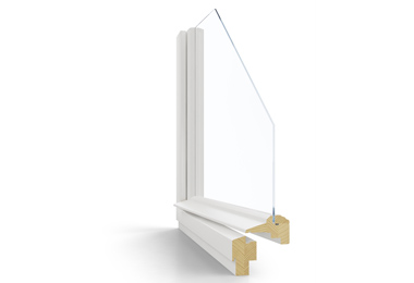 Dřevěné špaletové okno Janošík Single